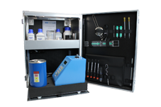 FUEL AND LUBE OIL TEST CABINET incl. Reagents and Accessories